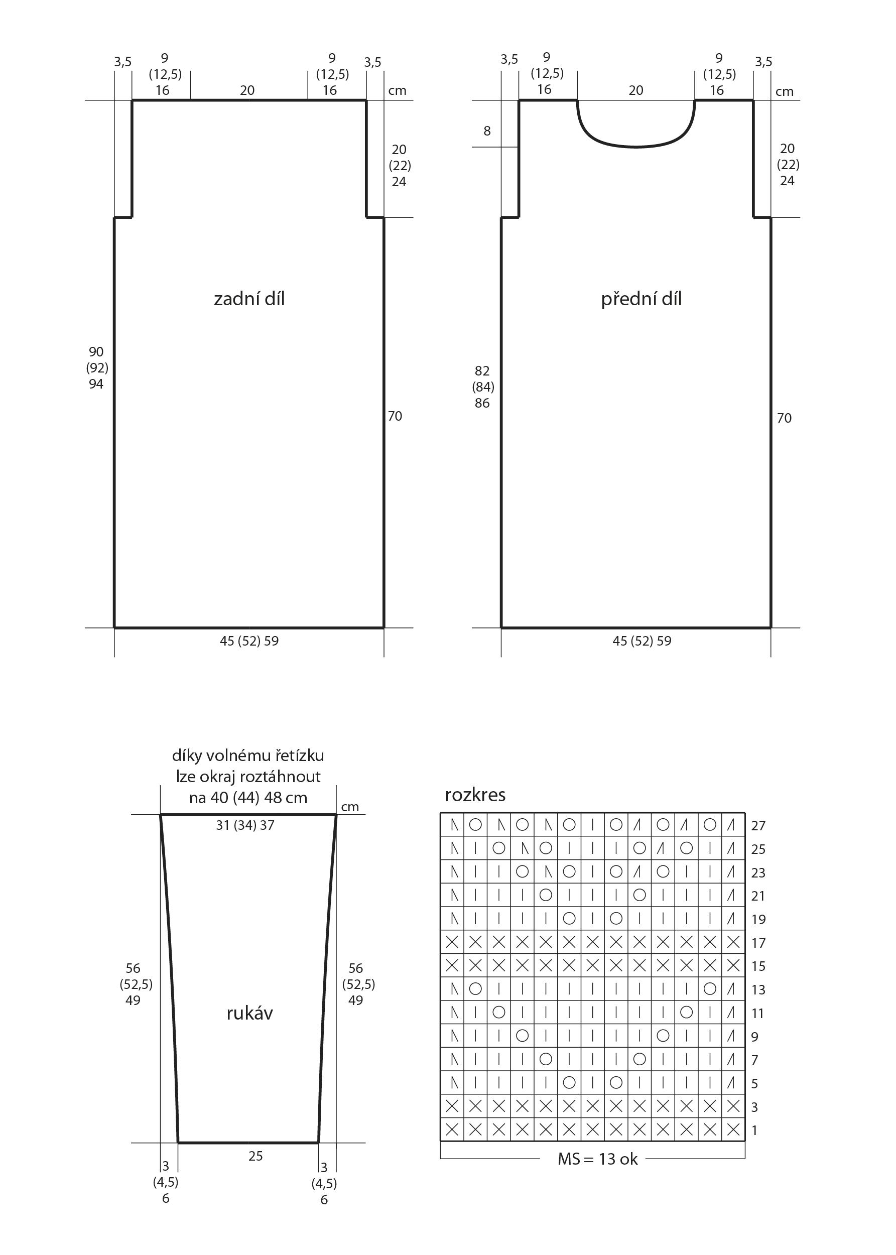 2018-Z-32 střih a rozkres dámských pletených šatů