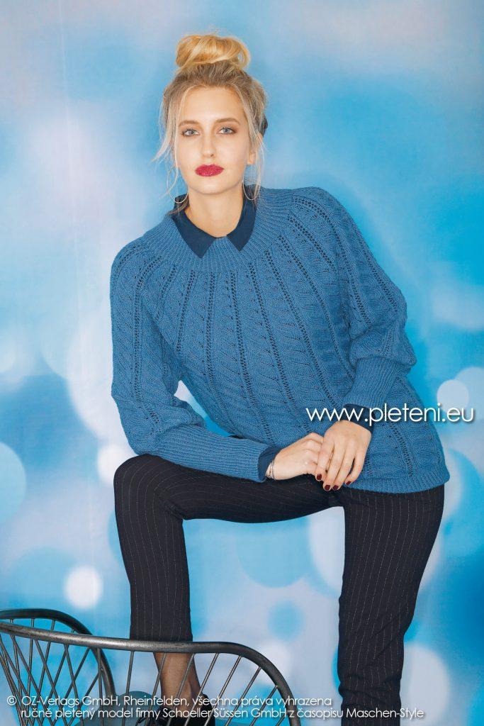 2018-Z-33 dámský pletený svetr z příze Step Classic firmy Schoeller