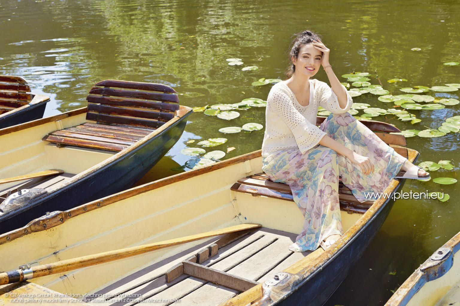2019-L-01 dámský pletený svetr z příze Merino Cotton firmy Schoeller