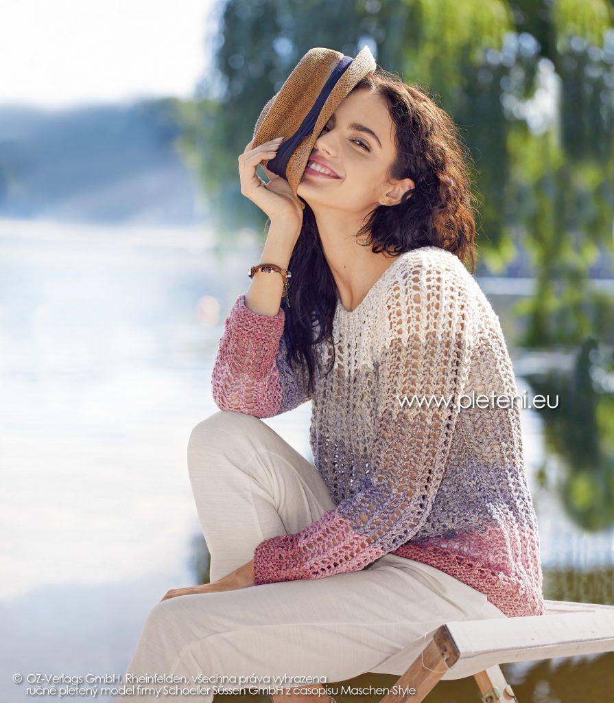 2019-L-02 dámský pletený svetr z příze Vio Linen firmy Schoeller
