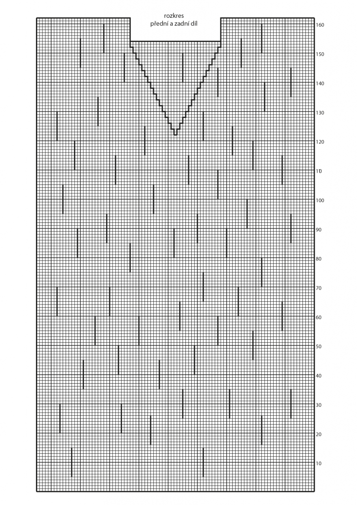 2019-L-03 rozkres dílů dámské pletené tuniky