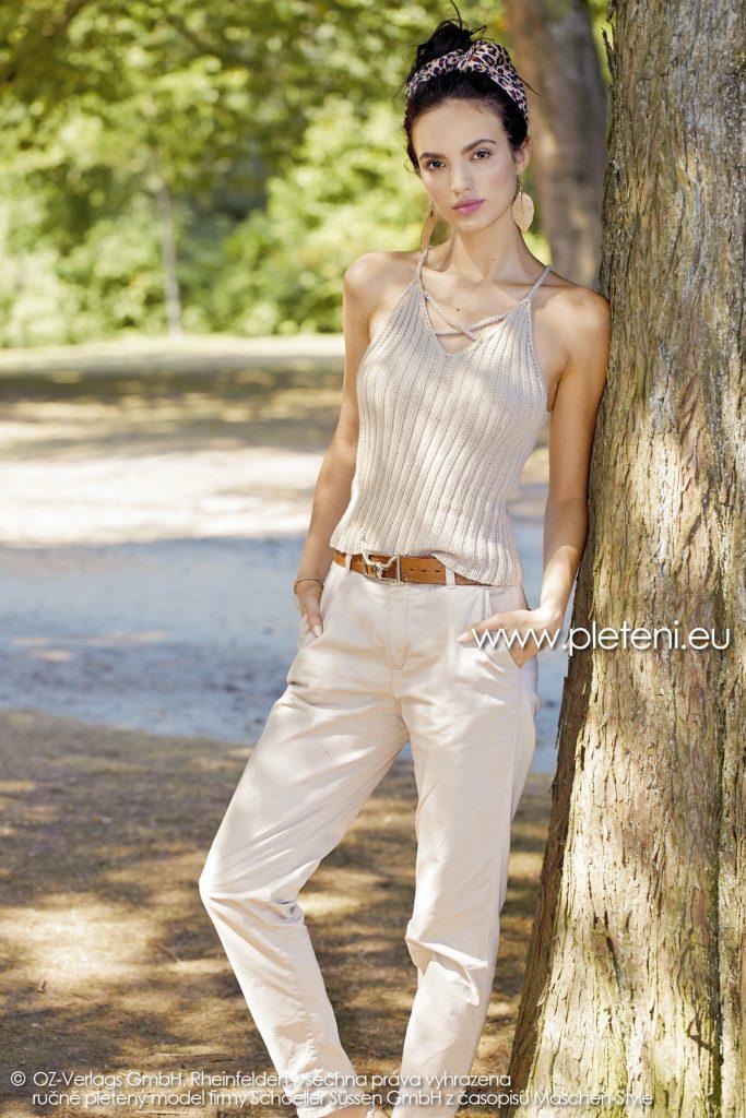 2019-L-04 dámský pletený top z příze Bio Cotton firmy Schoeller
