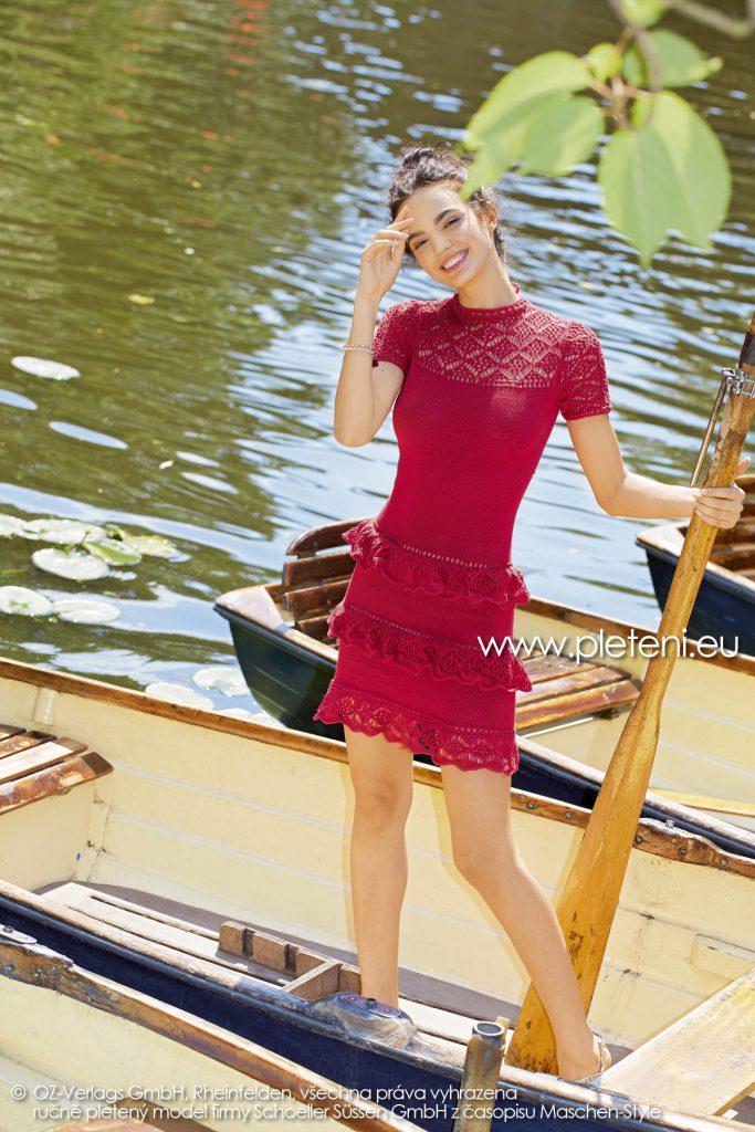 2019-L-05 dámské pletené šaty z příze Bio Cotton firmy Schoeller