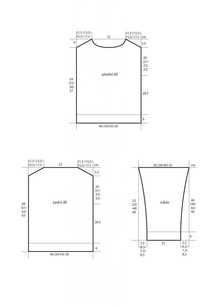 2019-L-15 střih dámského intarziového svetru