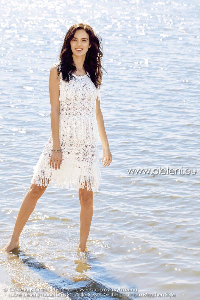 2019-L-19 dámské pletené šaty z příze Bio Cotton firmy Schoeller