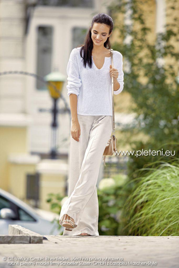 2019-L-21 dámský pletený svetr z příze Summer Cotton firmy Schoeller