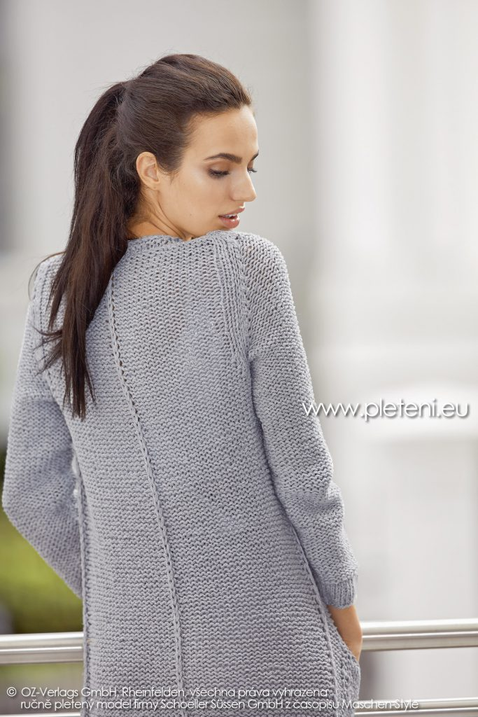 2019-L-22 dámský pletený kabátek z příze Sienna Recycled firmy Schoeller