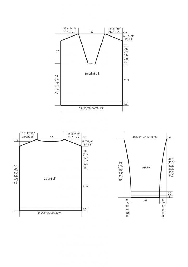 2019-L-23 střih dámského letního svetru