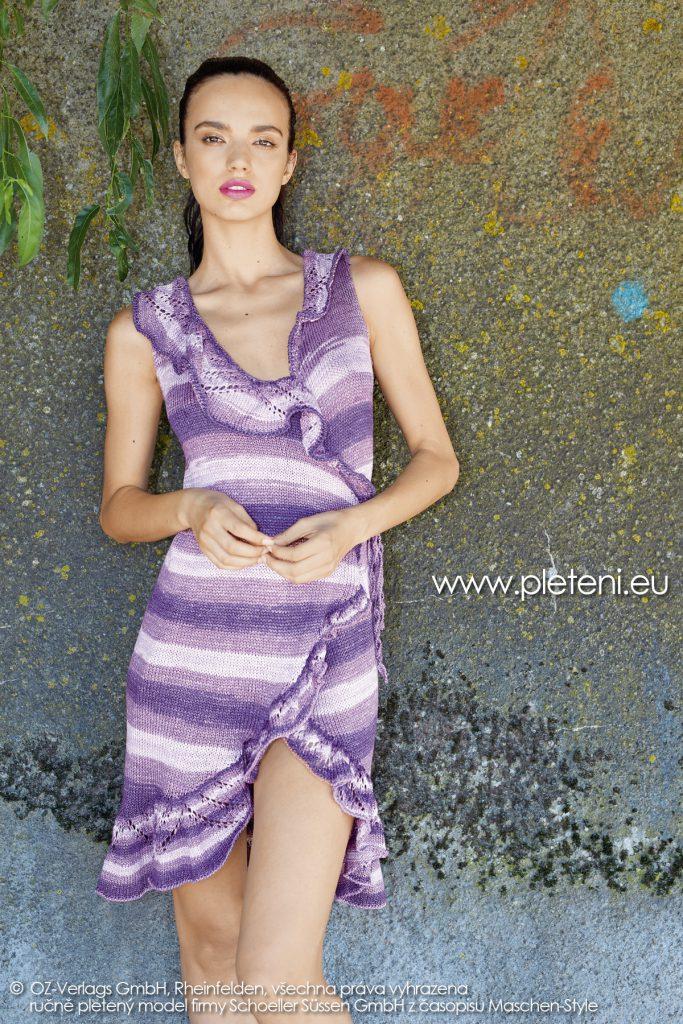 2019-L-25 dámské pletené šaty z příze Caribic Sun firmy Schoeller