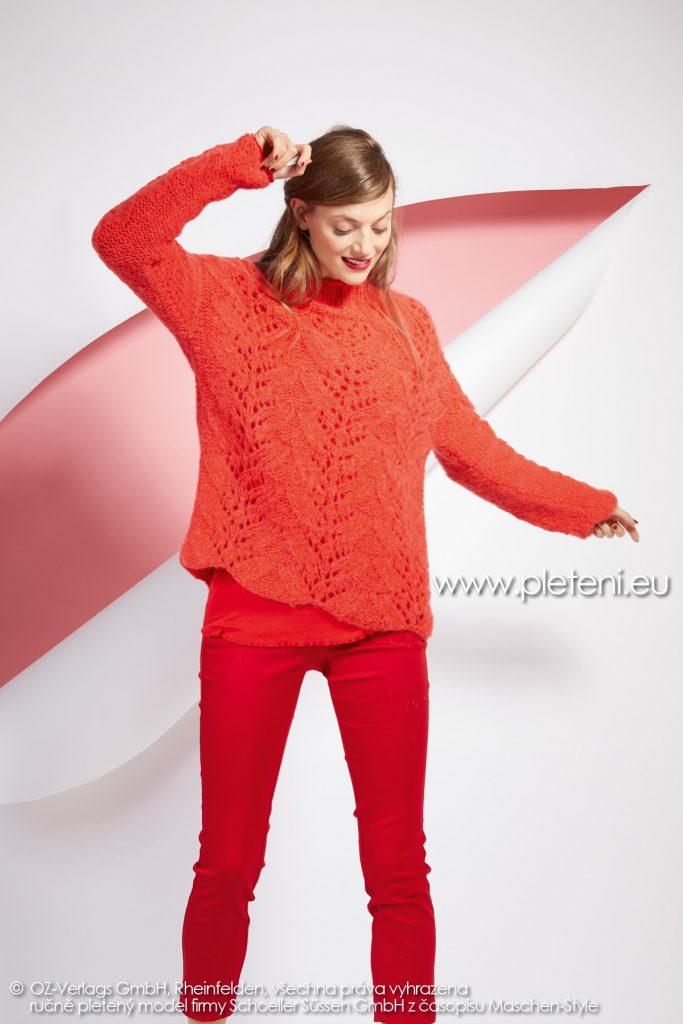 2019-Z-01 pletený dámský svetr z příze Alpaca Fluffy značky Austermann