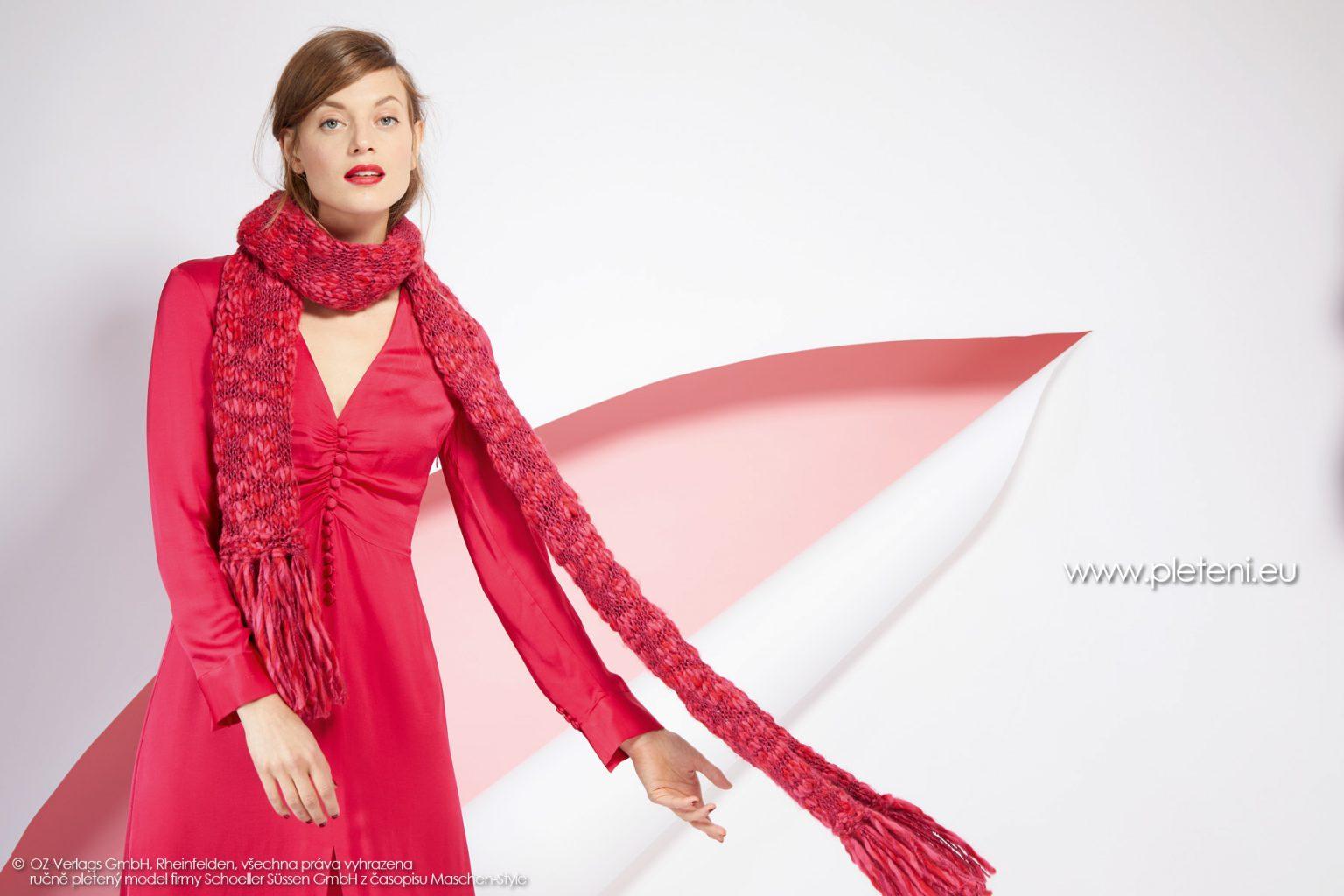2019-Z-02 pletená dámská šála z příze Jamalia značky Austermann