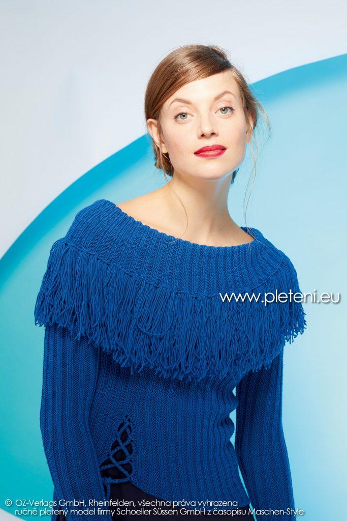 2019-Z-04 pletený dámský svetr z příze Merino 160 značky Austermann