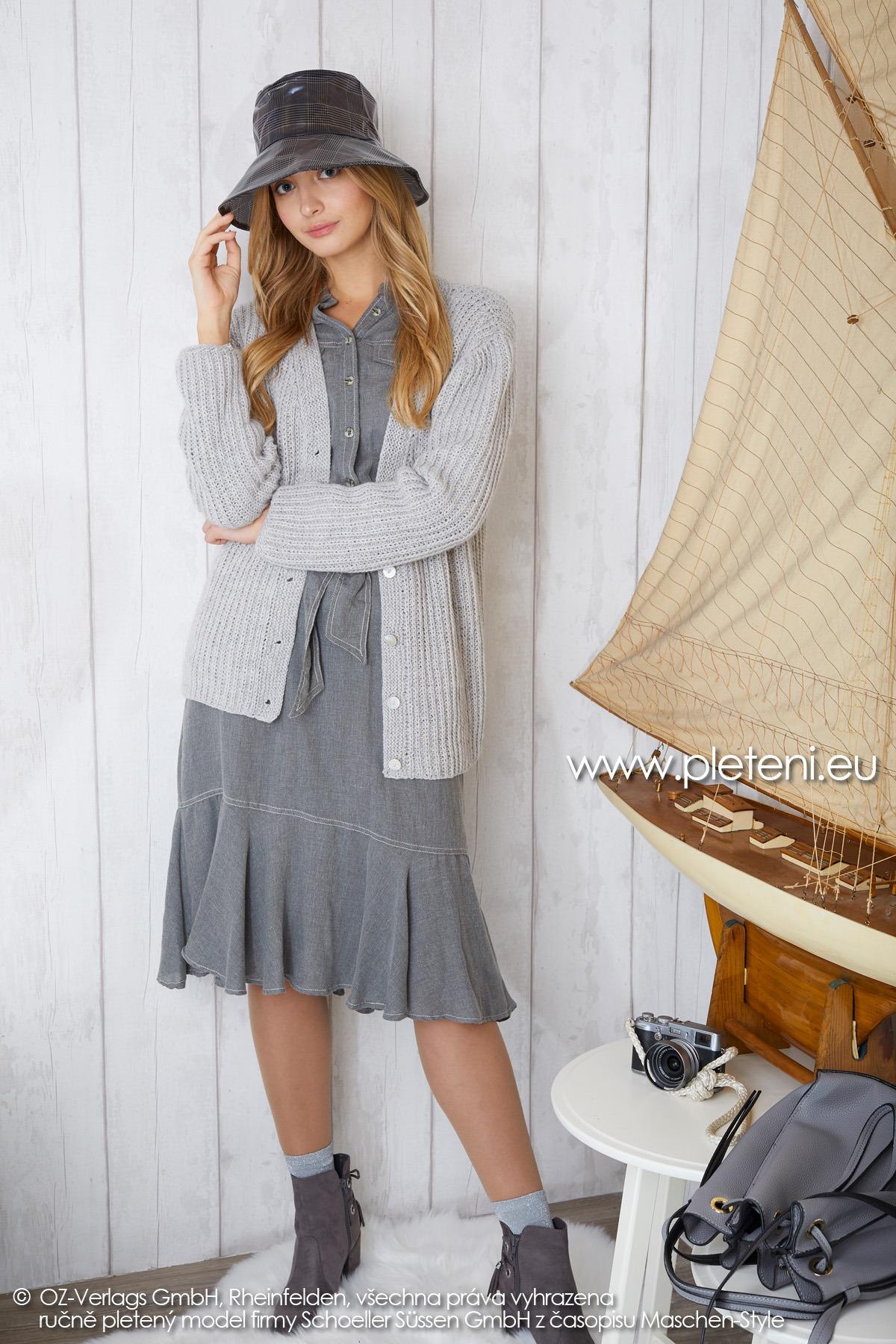 2019-Z-14 pletený dámský kabátek z příze Cashmere Pure značky Austermann