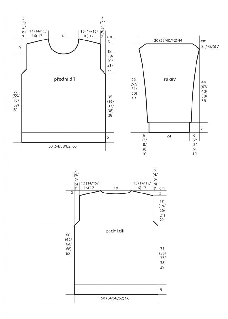 2019-Z-15 střih dámského svetru