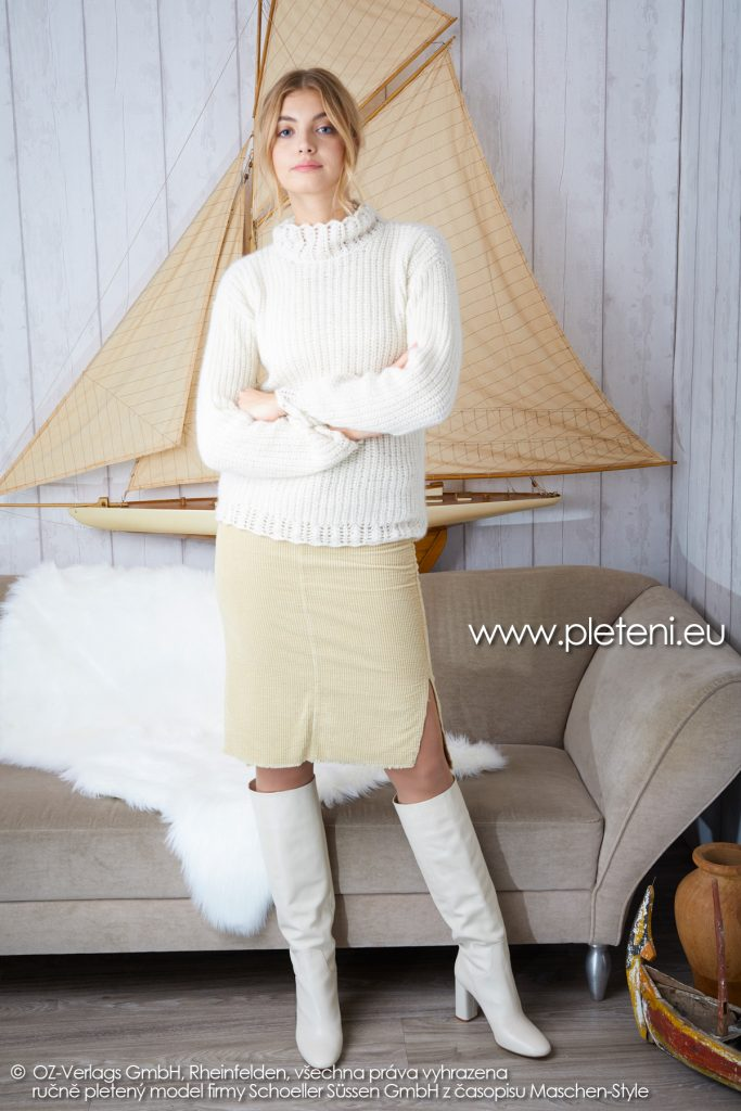 2019-Z-15 pletený dámský svetr z příze Cashmere Pure značky Austermann