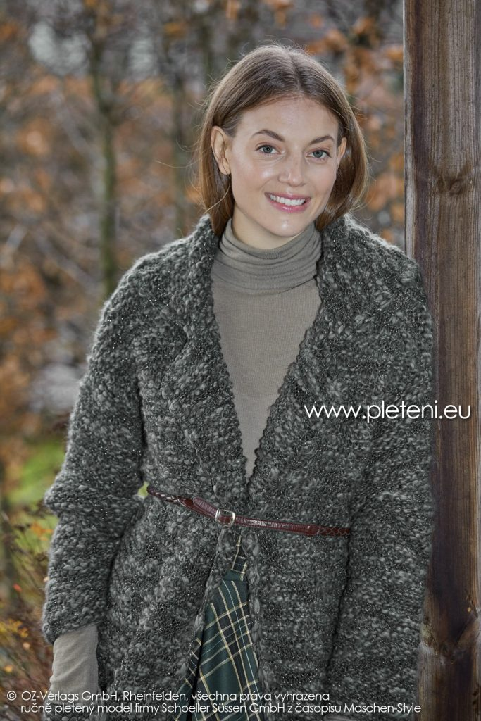 2019-Z-21 pletený dámský kabát z příze Jamalia značky Austermann