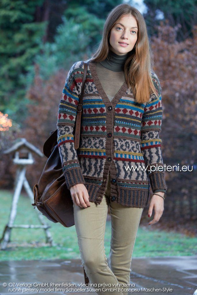 2019-Z-22 pletený dámský kabátek z příze Biola značky Austermann