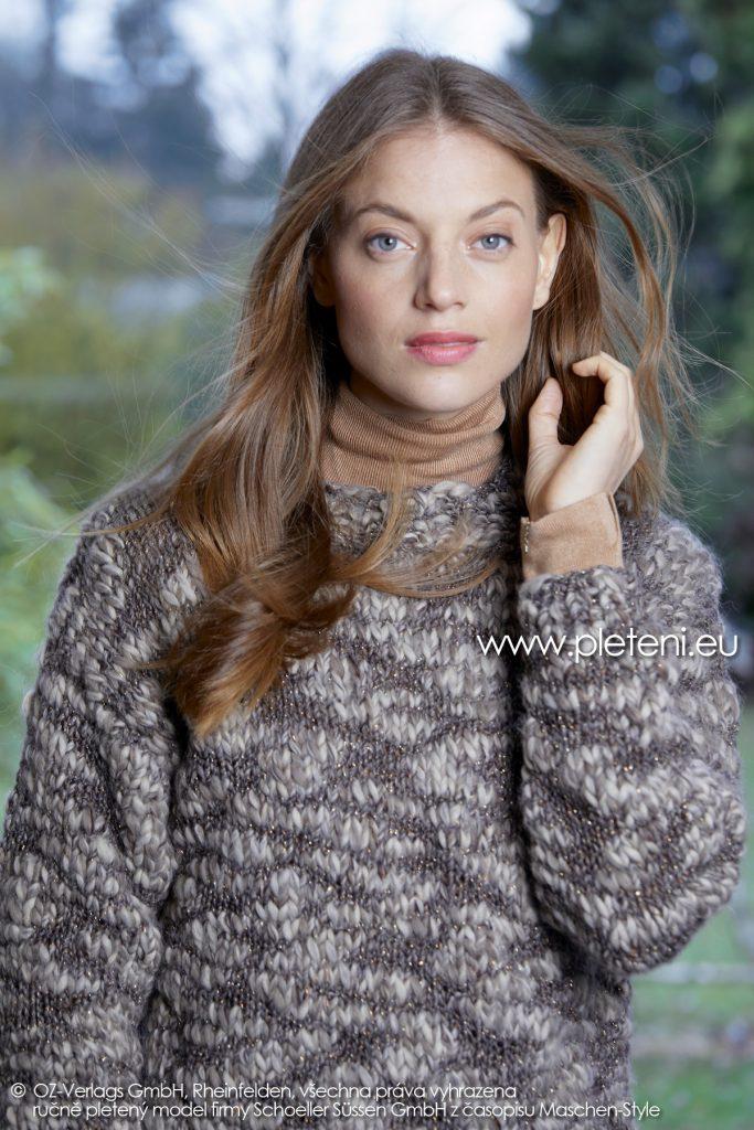 2019-Z-25 pletený dámský svetr z příze Jamalia značky Austermann