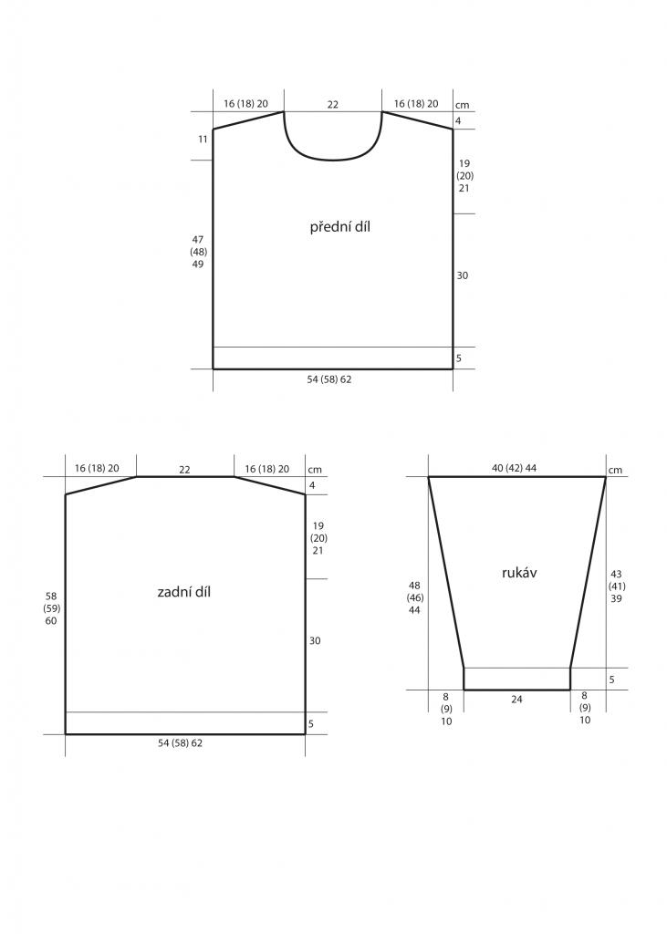 2019-Z-25 střih dámského svetru