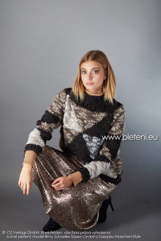 2019-Z-28 pletený dámský svetr z příze Jamalia značky Austermann