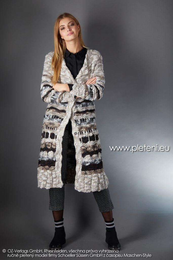 2019-Z-29 pletený dámský kabát z příze Jamalia značky Austermann