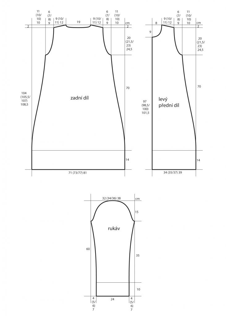 2019-Z-29 střih dámského kabátu