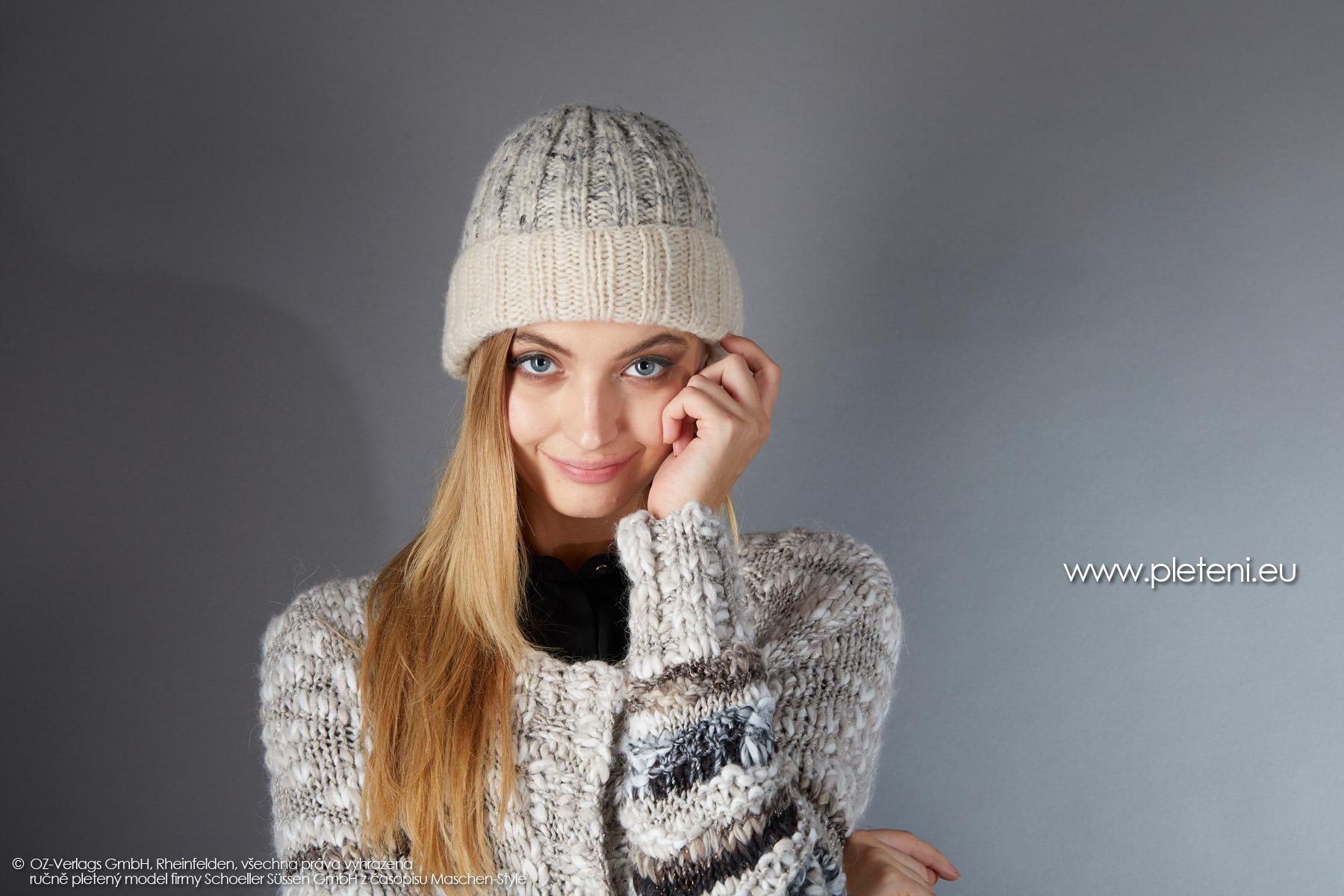 2019-Z-30 pletená dámská čepice z příze Raindrops Degradé značky Austermann
