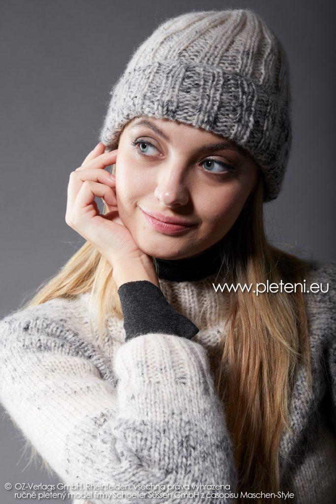 2019-Z-33 pletená dámská čepice z příze Raindrops Degradé značky Austermann