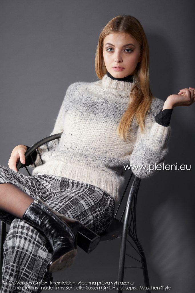 2019-Z-34 pletený dámský svetr z příze Raindrops Degradé značky Austermann