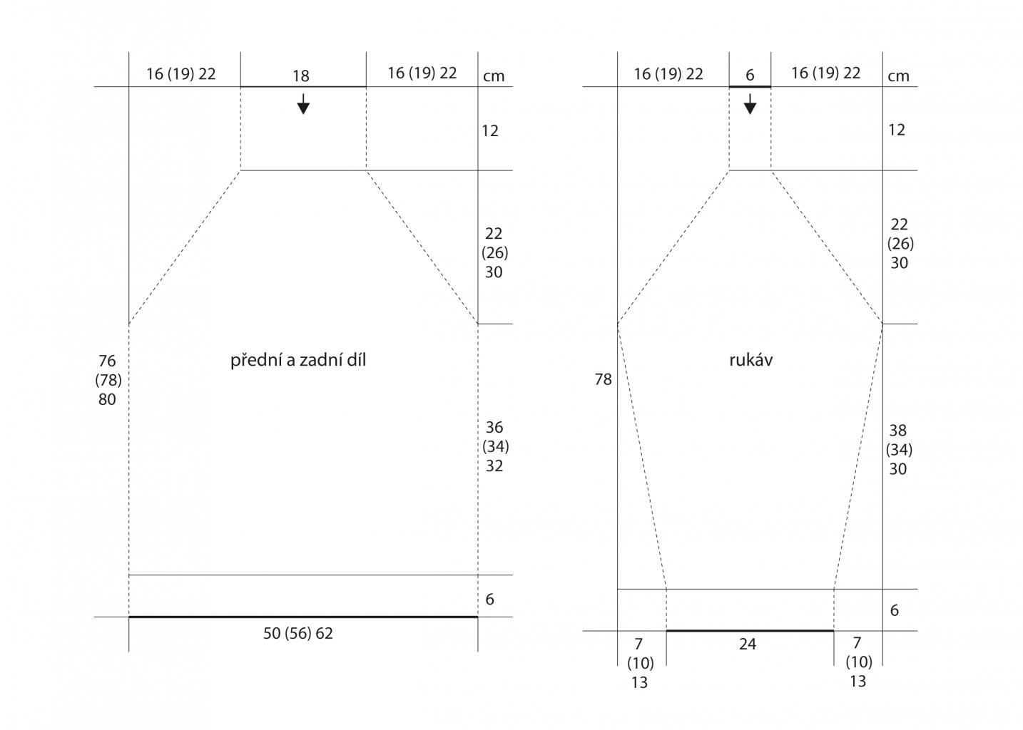 2019-Z-34 střih dámského svetru