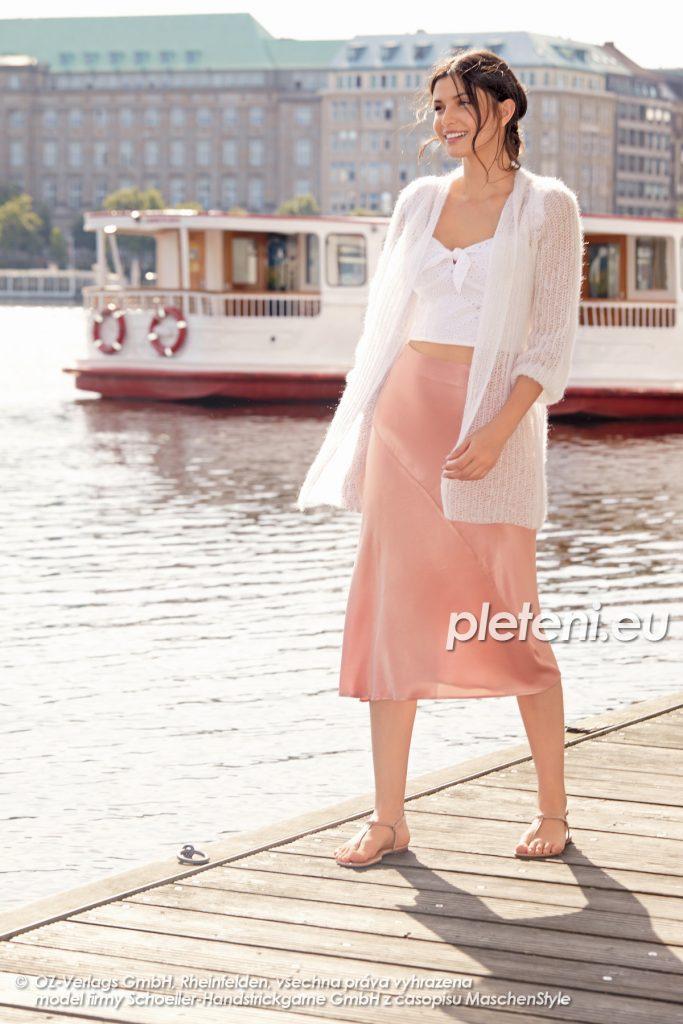 2020-L-01 pletený dámský kabátek z příze Kid Silk značky Austermann