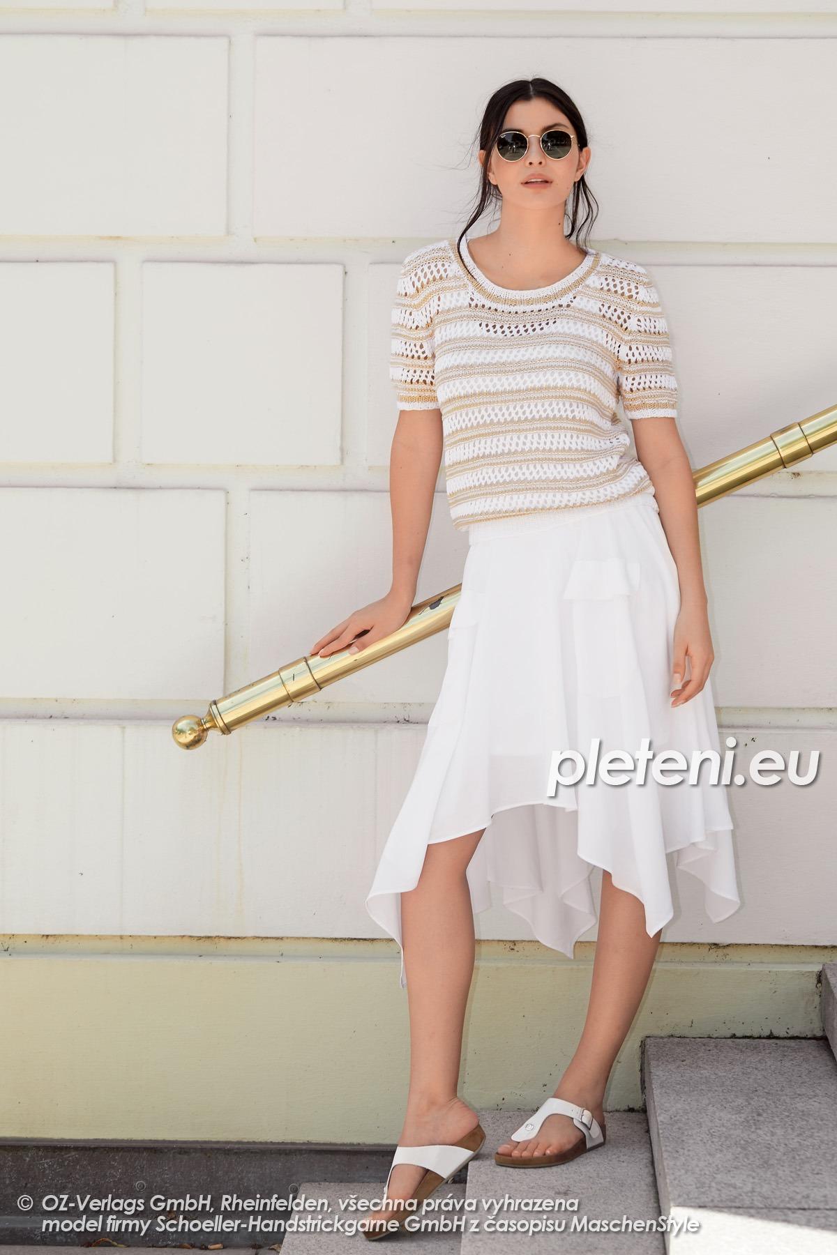 2020-L-02 pletený dámský svetr z příze Tencel značky Austermann