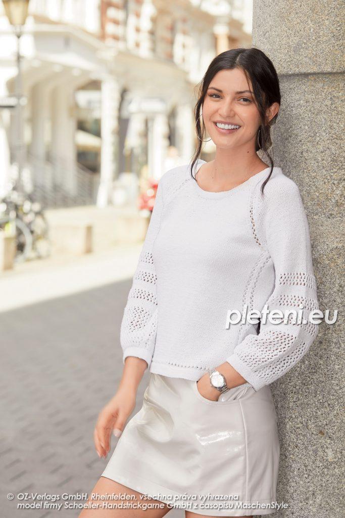 2020-L-03 pletený dámský svetr z příze Star Cotton značky Austermann
