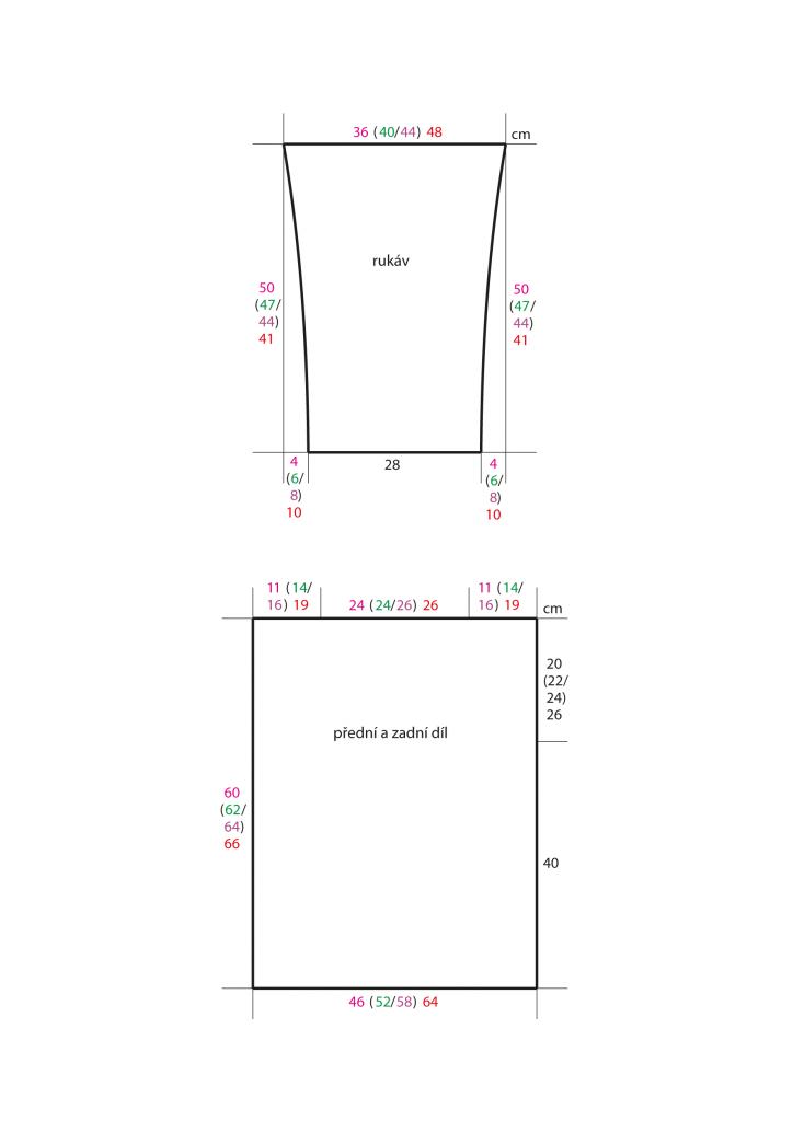 2020-L-05 střih - pletený dámský svetr z přízí Senada a Star Cotton značky Austermann