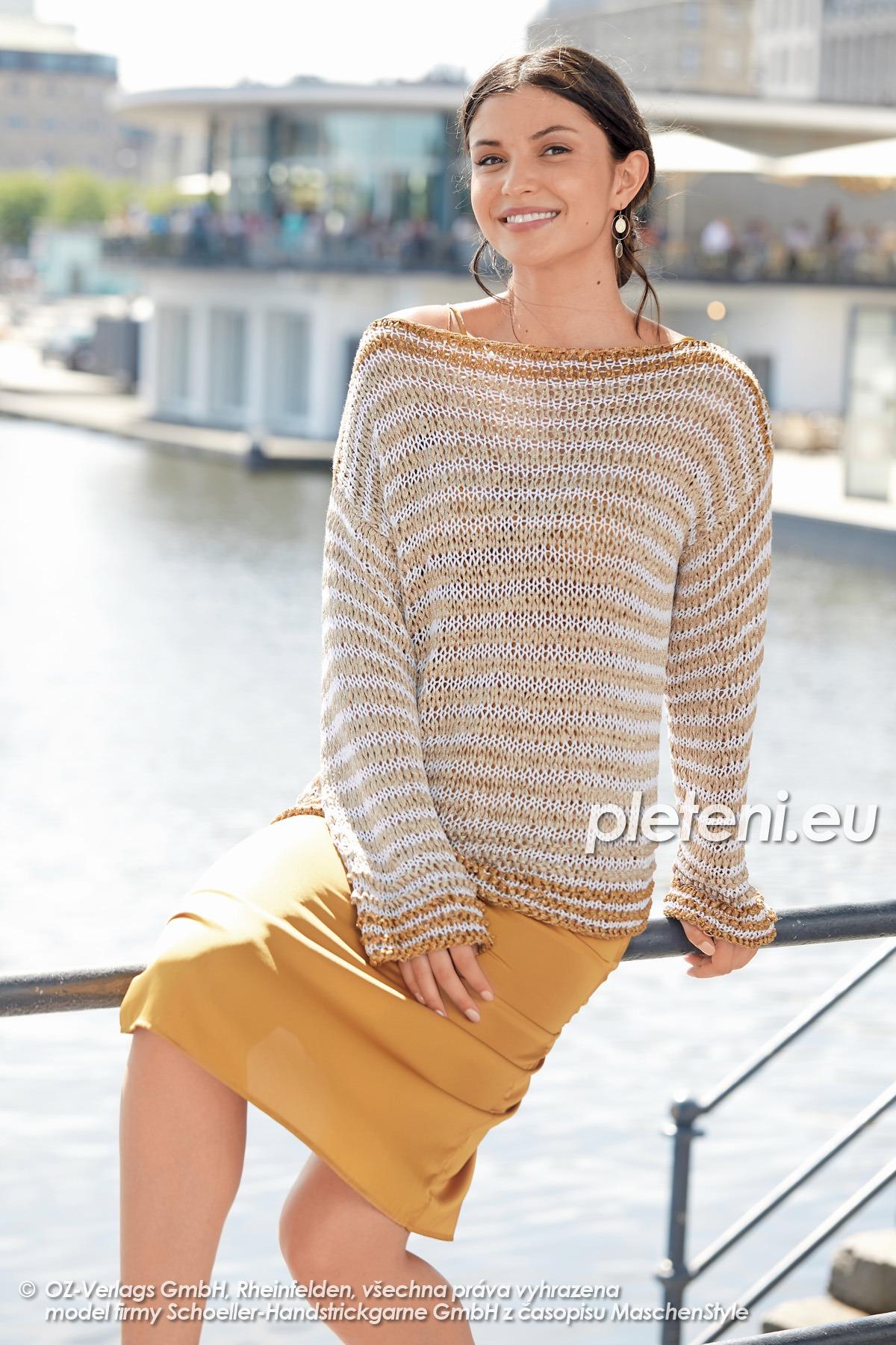 2020-L-05 pletený dámský svetr z přízí Senada a Star Cotton značky Austermann
