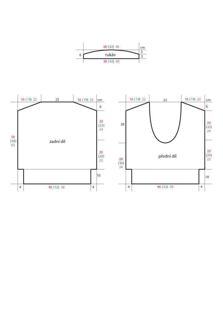2020-L-10 střih - pletený dámský top z příze Piuma značky Austermann