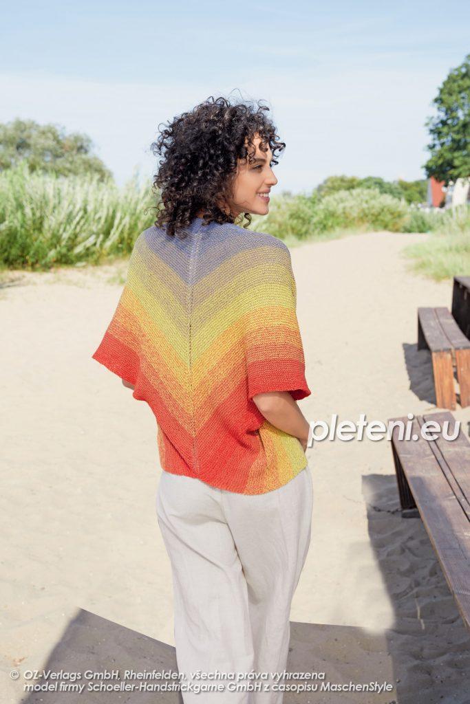2020-L-14 pletené dámské bolerko z příze Fantasy Colours značky Austermann