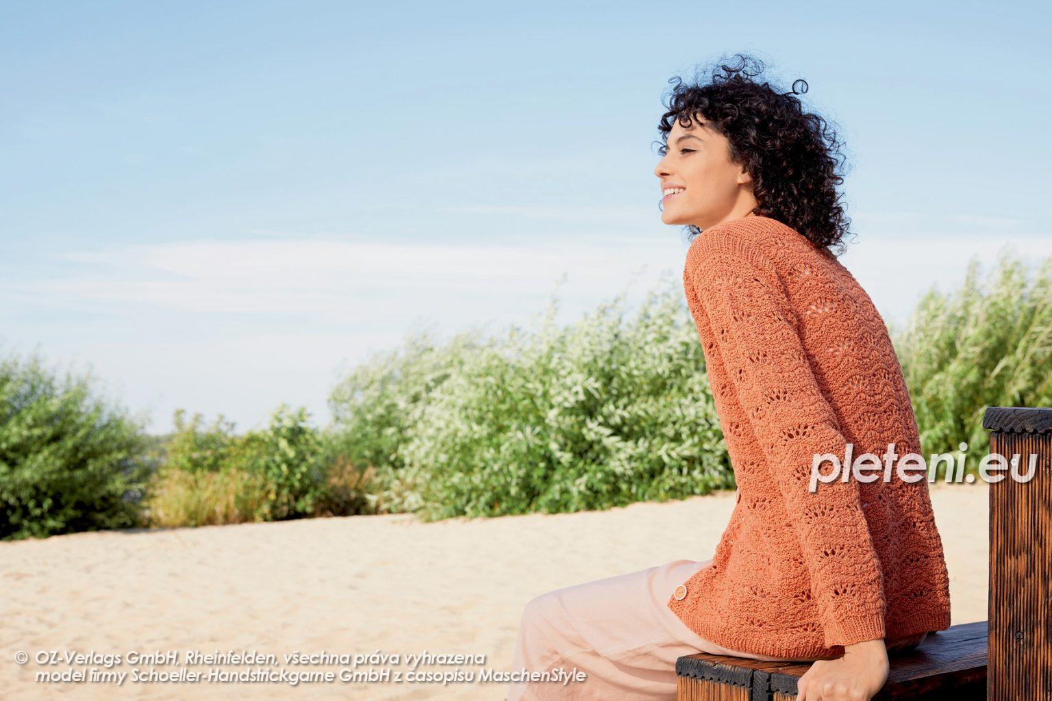 2020-L-16 pletený dámský kabátek z příze Merino Cotton značky Austermann