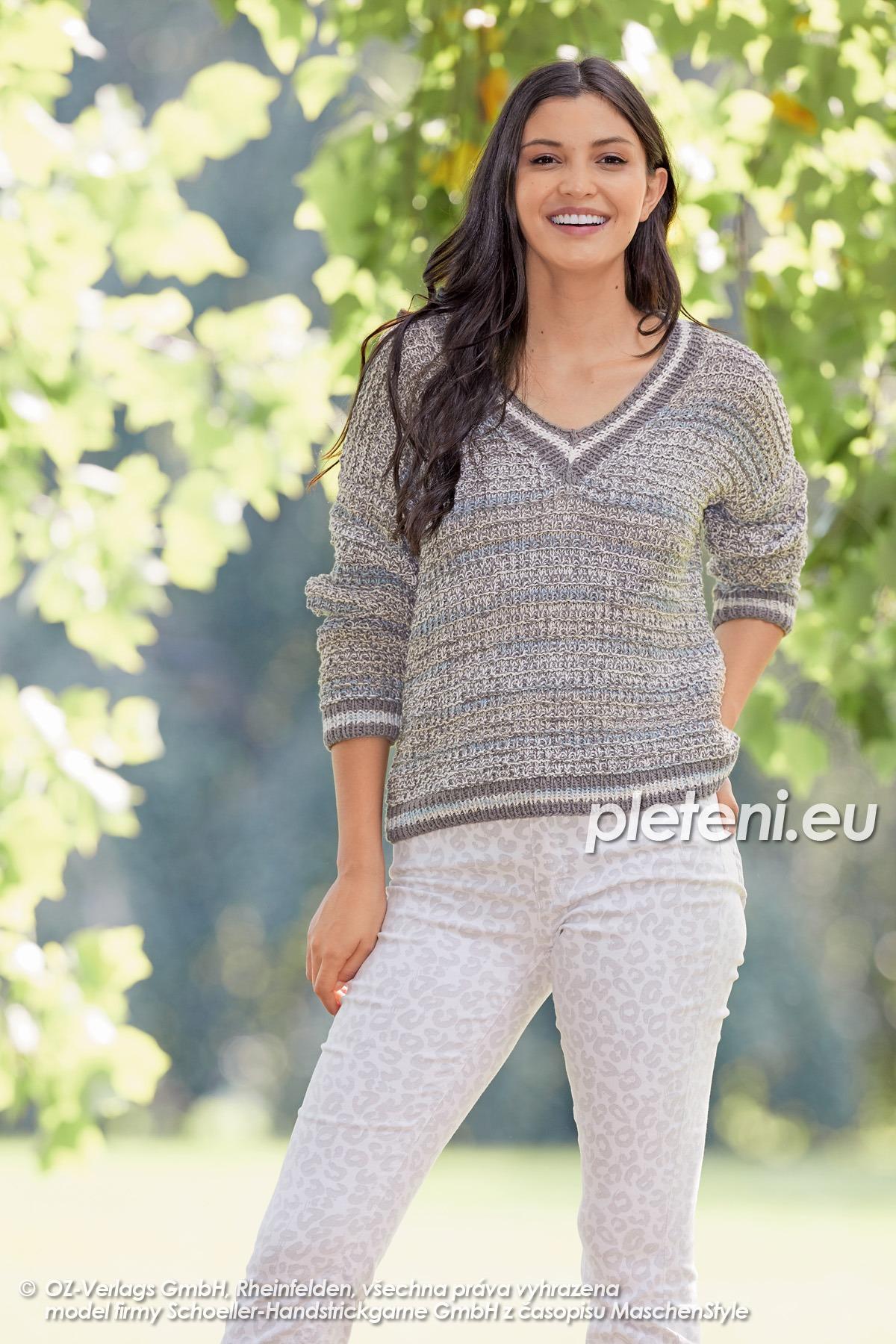 2020-L-20 pletený dámský svetr z příze Bio Cotton značky Austermann