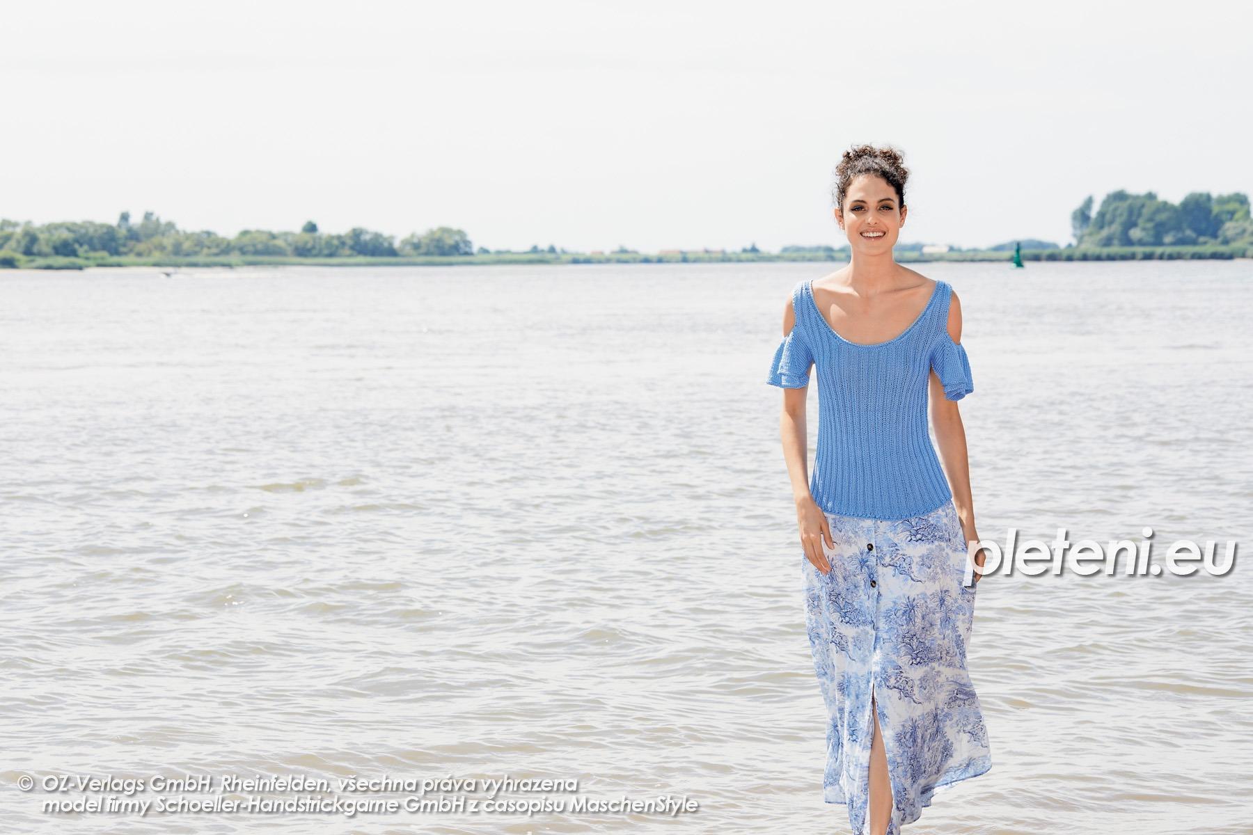 2020-L-22 pletený dámský top z příze Tencel značky Austermann