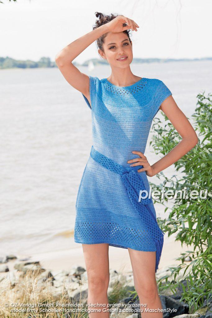 2020-L-23 háčkované šaty z příze Fantasy Colours značky Austermann