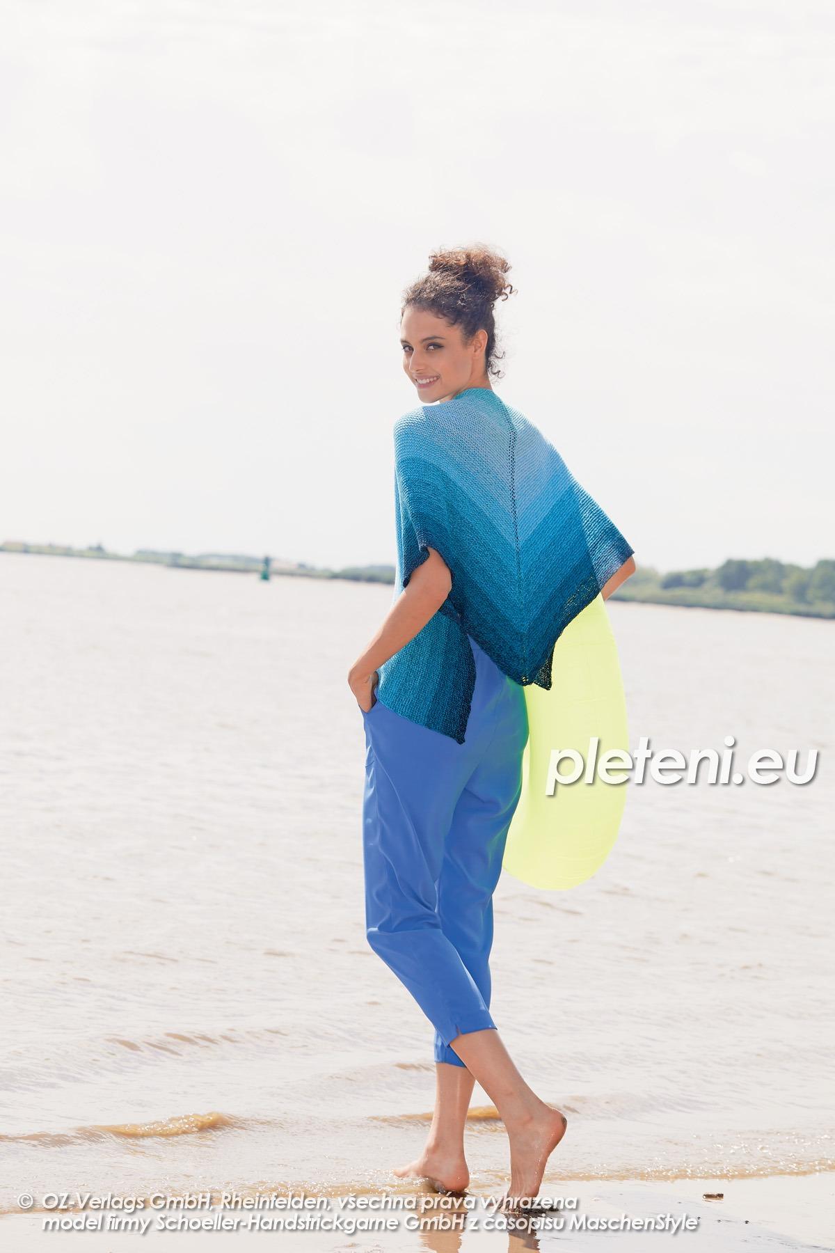 2020-L-25 pletený dámský šátek z příze Fantasy Colours značky Austermann
