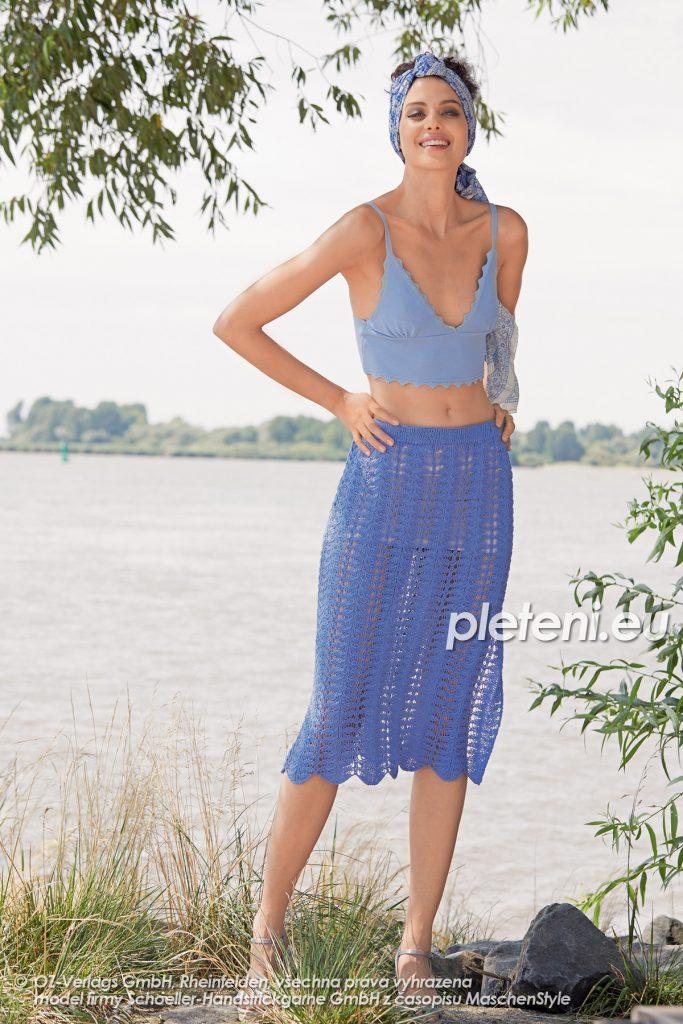 2020-L-26 pletená sukně z příze Magic Silk značky Austermann