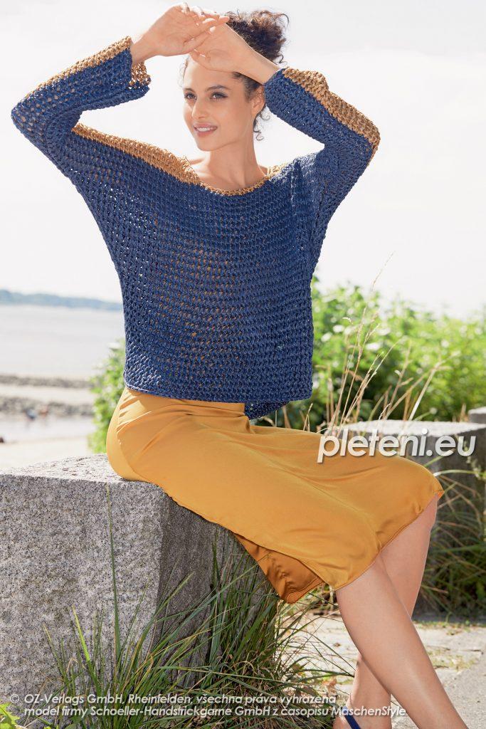 2020-L-29 pletený dámský svetr z příze Senada značky Austermann