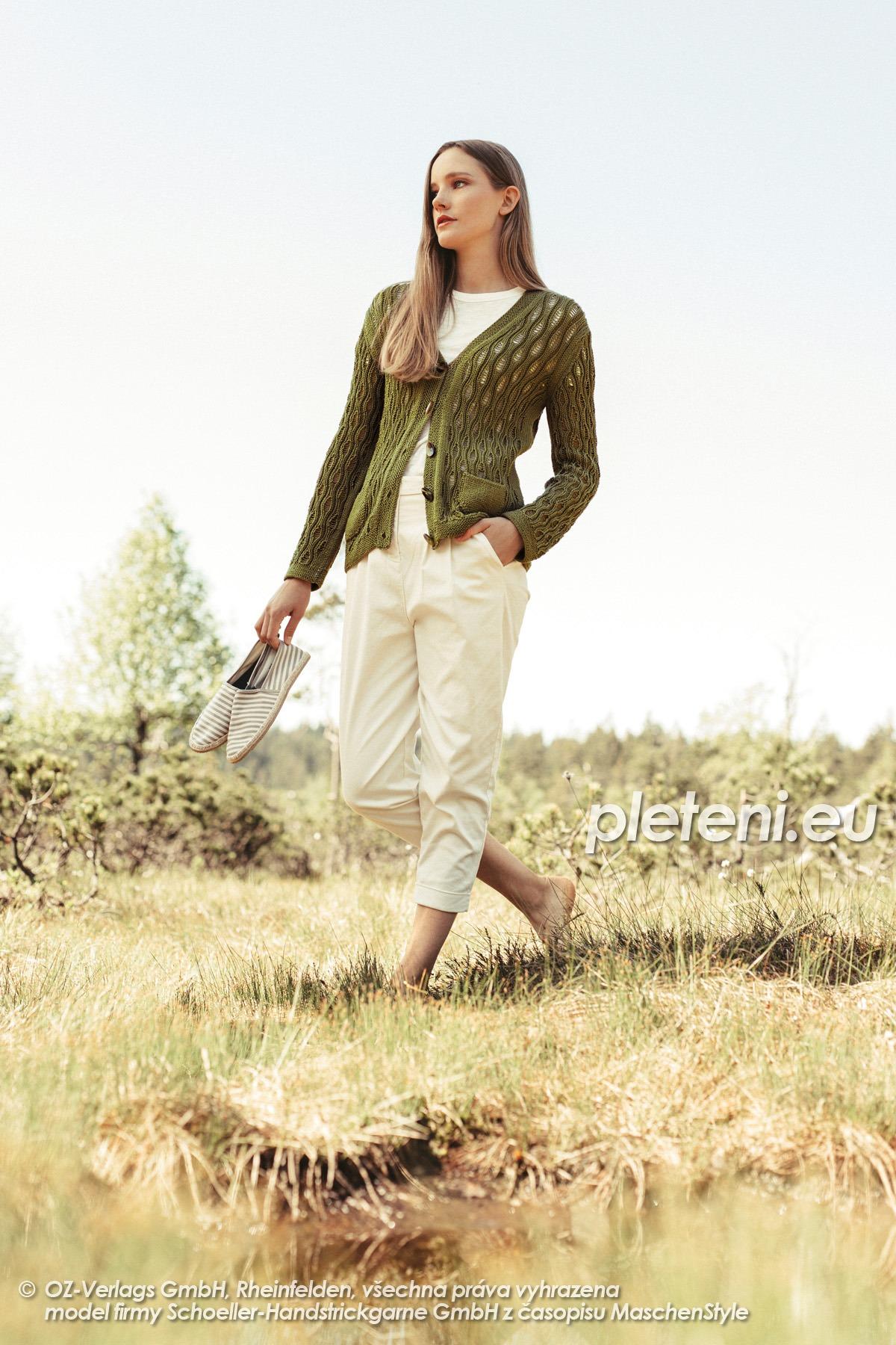 2020-L-36 pletený dámský kabátek z příze Limone značky Schoeller+Stahl