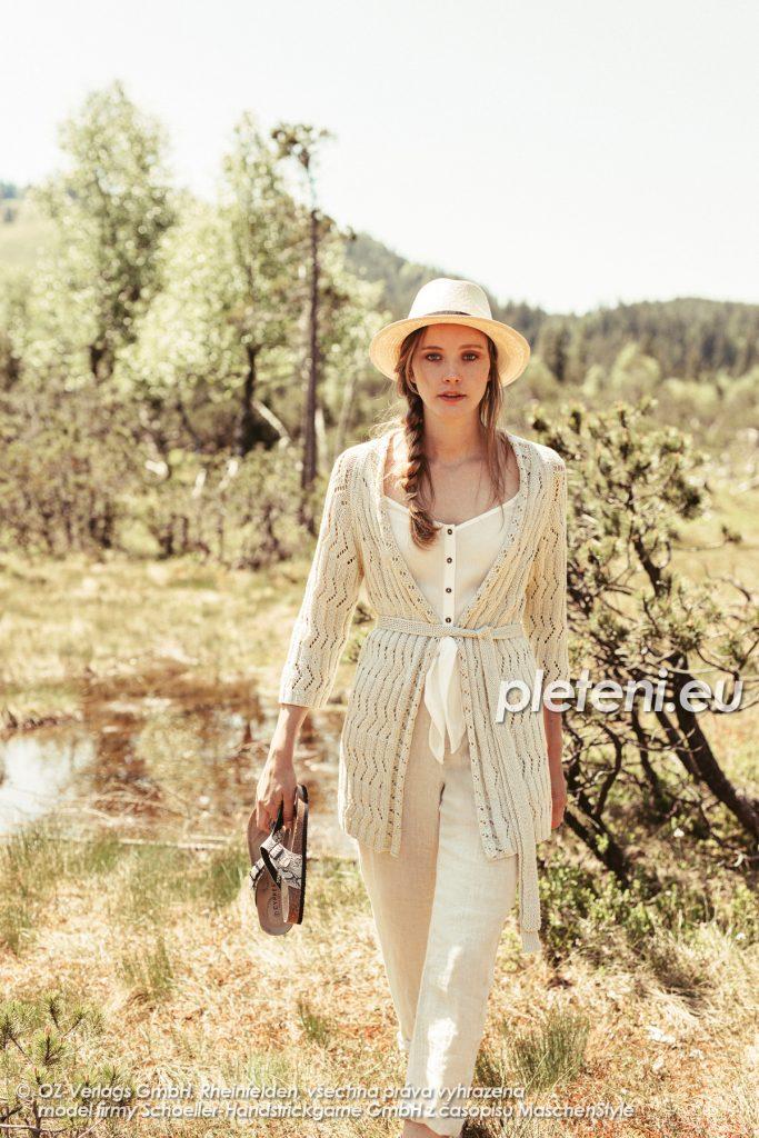 2020-L-37 pletený dámský kabátek z příze Limone značky Schoeller+Stahl