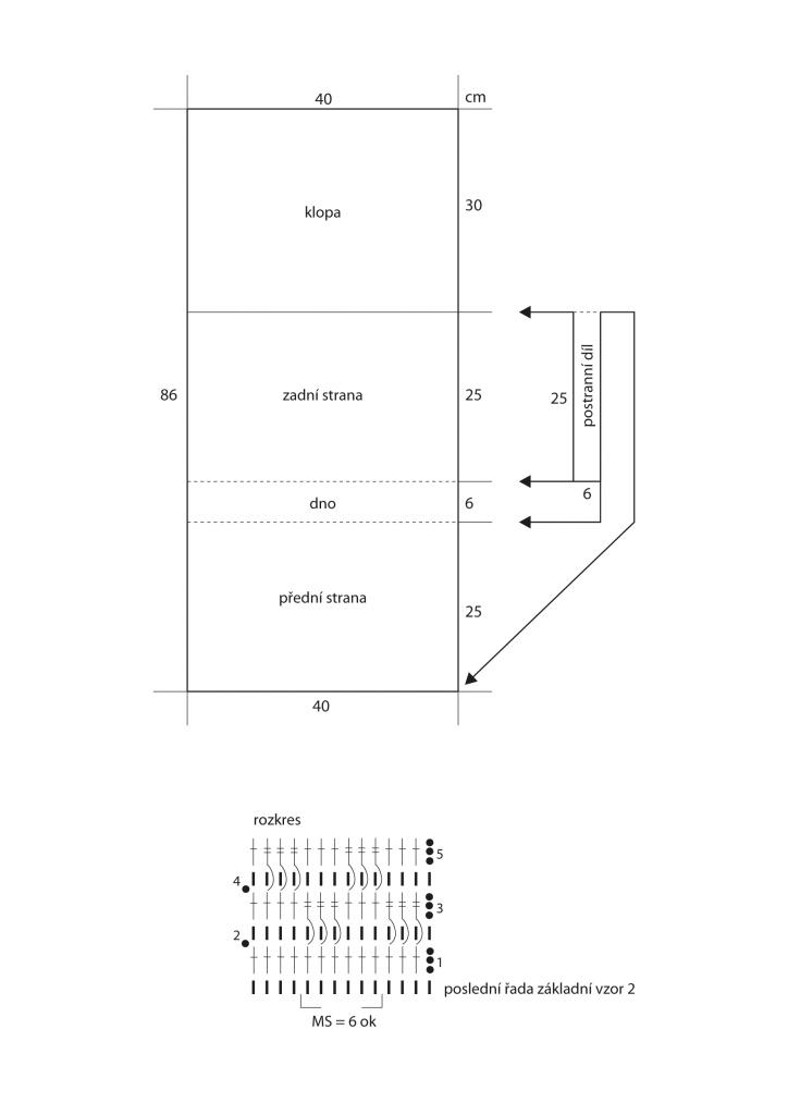 2020-L-40 schéma a rozkres - háčkovaná taška z příze Limone značky Schoeller+Stahl