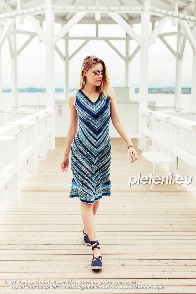 2020-L-41 pletené letní šaty z příze Limone Color značky Schoeller+Stahl