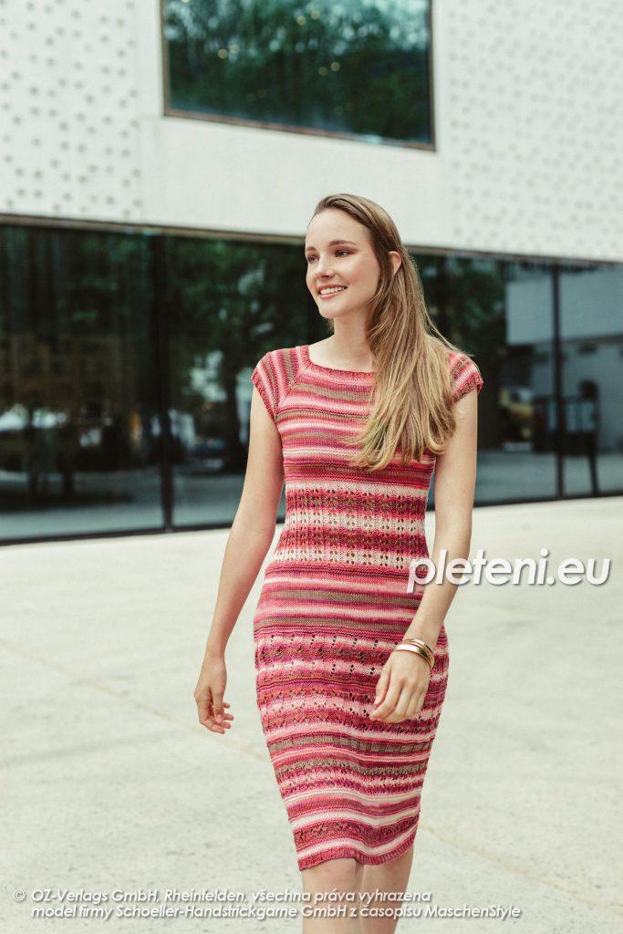 2020-L-51 pletené šaty z příze Limone Color značky Schoeller+Stahl