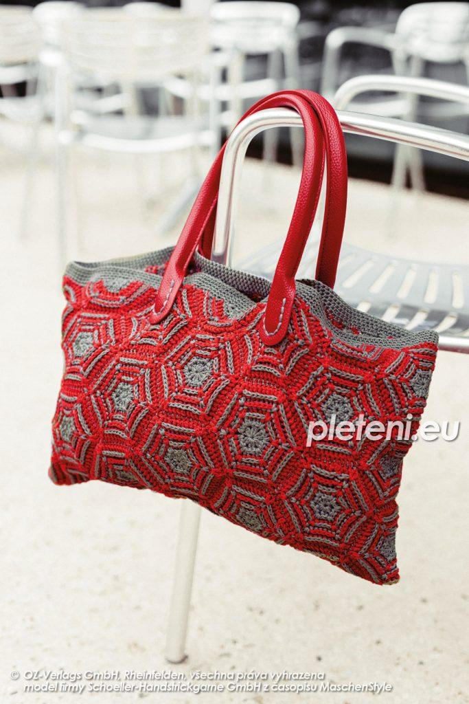 2020-L-56 háčkovaná taška z příze Limone značky Schoeller+Stahl